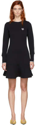 Kenzo Black Tiger Crest Flare Dress