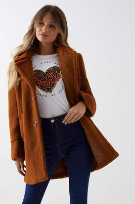 Next Womens Fashion Union Teddy Coat