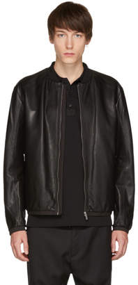 HUGO Black Lewy Leather Jacket