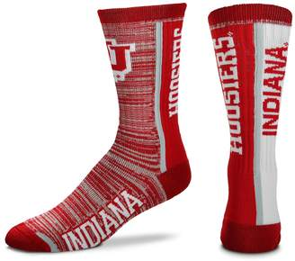 For Bare Feet Adult Indiana Hoosiers Bar Stripe Crew Socks