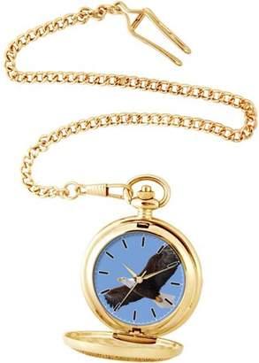 EWatchFactory Men's Eagle Pocket Watch, Gold