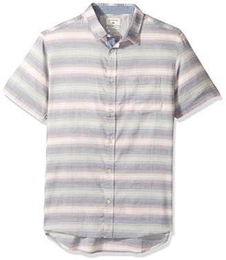 Quiksilver Men's Aventail Update Short Sleeve Button Down Shirt