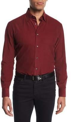 Brioni Corduroy Sport Shirt, Red