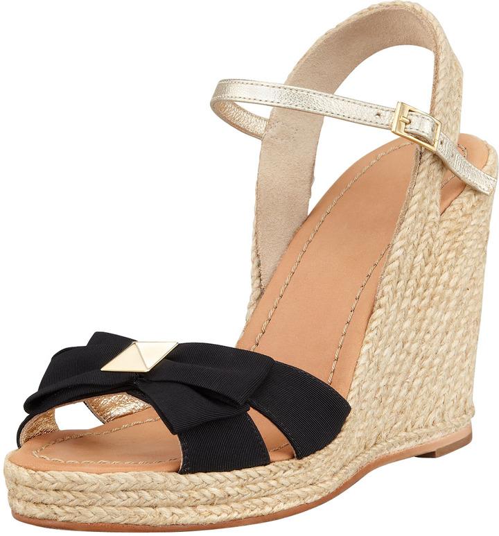 Kate Spade Carmelita Bow Espadrille Wedge Sandal