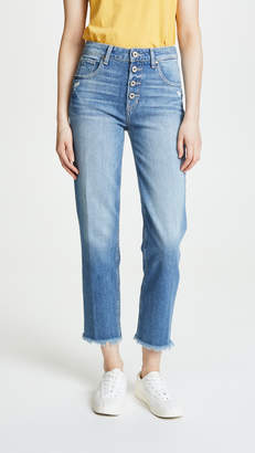 Paige High Rise Sarah Straight Jeans