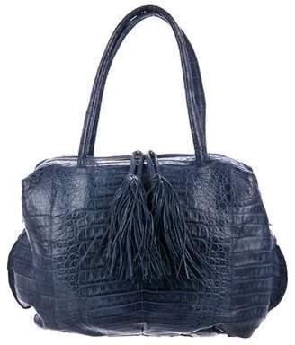 Nancy Gonzalez Twin Tassel Crocodile Bag