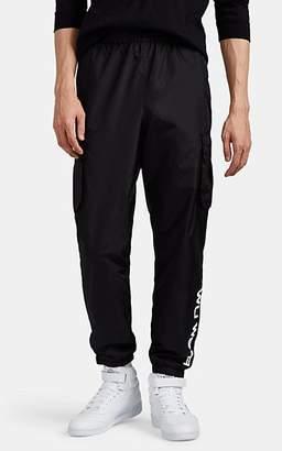 Wu Wear Men's Logo Cargo Track Pants - Black
