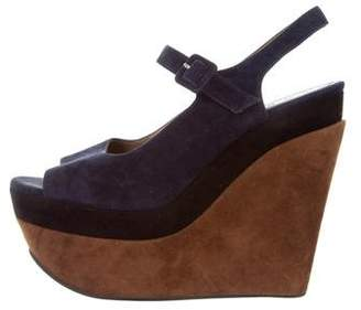Marni Suede Platform Wedge Pumps