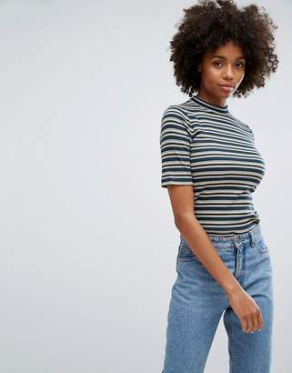 Esprit High Neck Stripe T-Shirt
