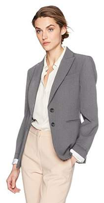 Tahari by Arthur S. Levine Women's 2 Button Bi Stretch Cuffed Sleeve Jacket