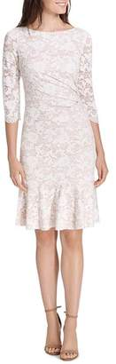 Eliza J Draped Lace Dress
