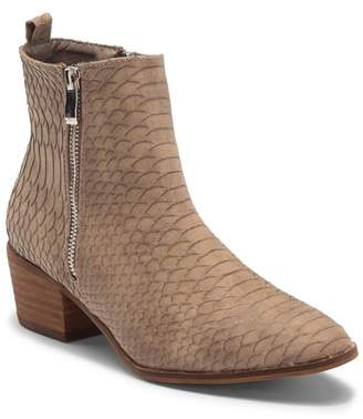 Catherine Malandrino Fannie Snake Embossed Ankle Bootie