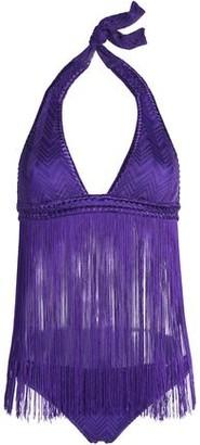 Missoni Mare Mare Fringed Crochet-Knit Halterneck Bikini