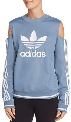 adidas Cold-Shoulder Trefoil Sweatshirt
