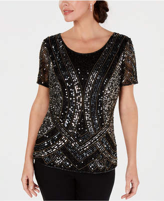 28th & Park Embellished Hand-Beaded Top