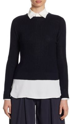 Polo Ralph Lauren Button-Back Crewneck Sweater $198 thestylecure.com