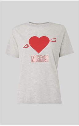 Whistles Merci Heart Tshirt