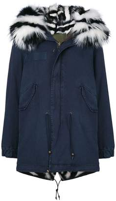 Mr & Mrs Italy slim-fit midi parka coat