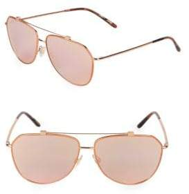 Dolce & Gabbana Rose-Goldtone 59MM Aviators Sunglasses