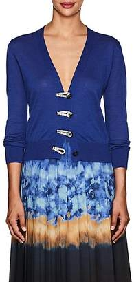 Altuzarra Women's Button-Detailed Silk-Cotton Cardigan - Riviera Blue