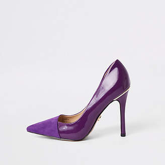 River Island Purple fold front pumps