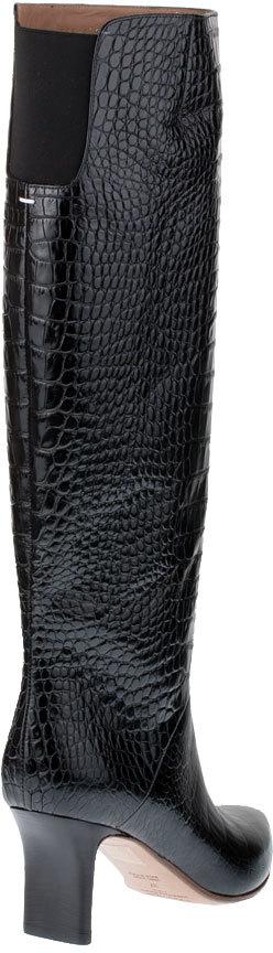 Maison Martin Margiela Croc embossed high boot