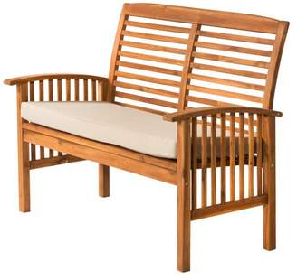 Walker Edison Furniture Company Acacia Patio Loveseat Bench