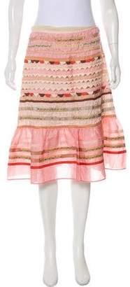 Blumarine Patchwork Silk Skirt w/ Tags