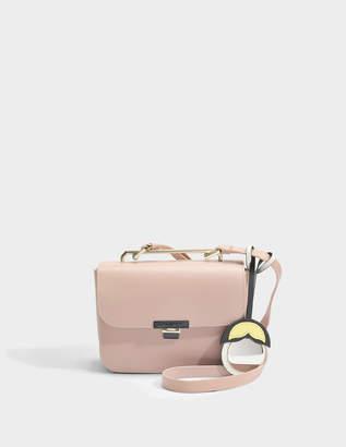 Furla Elisir Mini Crossbody Bag in Moonstone Calfskin