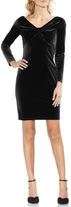 Vince Camuto Twist Front Stretch Velvet Dress