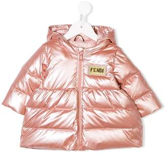 Fendi logo patch padded jacket
