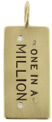 Heather B Moore One In A Million Id Tag Charm - Yellow Gold