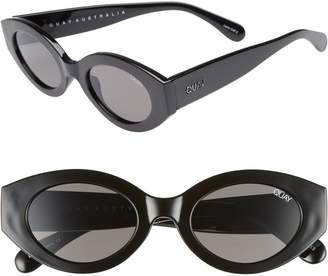 Quay See Me Smile 50mm Cat Eye Sunglasses
