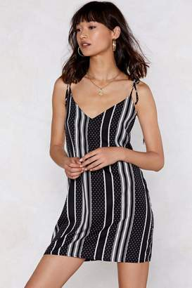 Nasty Gal Opposites Attract Striped and Polka Dot Cami Dress