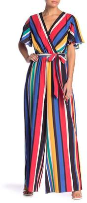 Flying Tomato V-Neck Stripe Jumpsuit