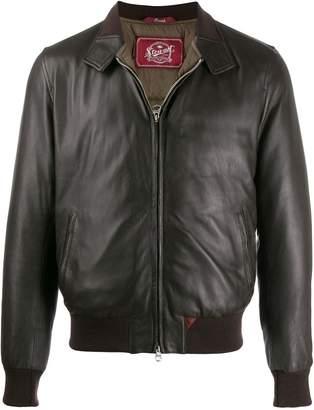 Stewart leather bomber jacket