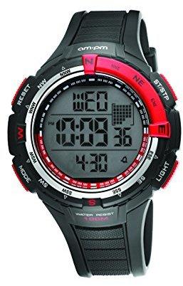 Am.pm. Am : Pmメンズpc128-g124ブラックプラスチックケースブラックプラスチックストラップクォーツ腕時計