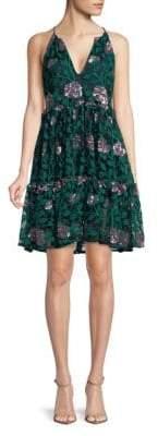 Denya Floral A-Line Dress
