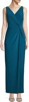 Alex Evenings Embellished Twist-Front Gown