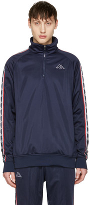 Kappa SSENSE Exclusive Navy Track Jacket $120 thestylecure.com
