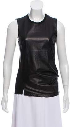 Reed Krakoff Sleeveless Leather Top