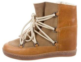 Isabel Marant Étoile Nowles Shearling-Trimmed Booties