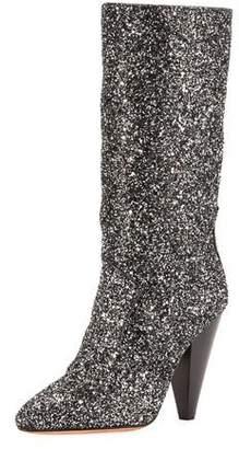 Veronica Beard Olivia Rock Glitter Mid-Calf Boots