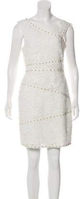 Pre Owned At Therealreal Nicole Miller Embellished Lace Dress W Tags