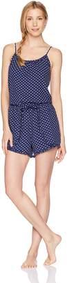 Mae Amazon Brand Women's Sleepwear Printed Romper Pajamas