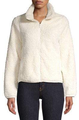 Lord & Taylor Zip Fleece Faux Fur Teddy Jacket