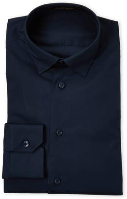 Roberto Cavalli Navy Slim Fit Dress Shirt