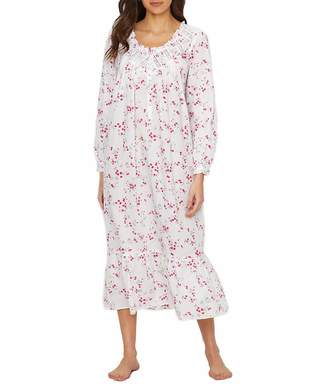 Eileen West Lawn Ballet Woven Floral Night Gown, M
