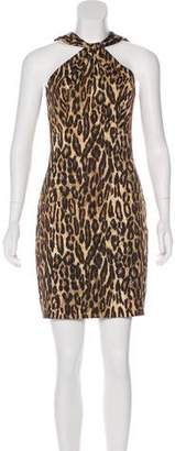 Michael Kors Leopard Print Mini Dress