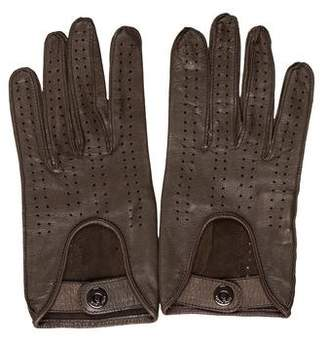 Loro Piana Leather Perforated Gloves